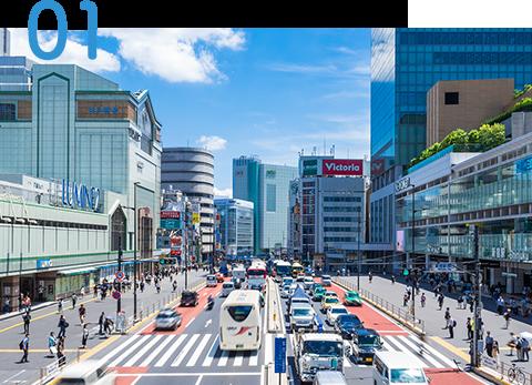 新宿駅から徒歩2分の好立地